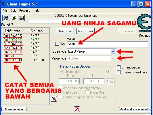 cheats ninja saga facebook